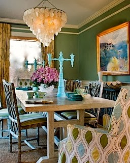 Eclectic Design Dinning Room