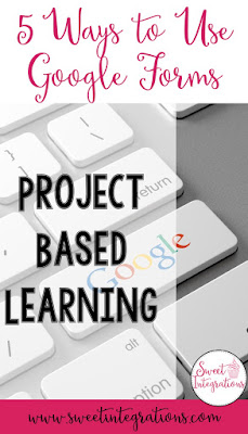 If you're on the lookout for more ways to use Google Forms during Project Based Learning, or PBL, you're going to love this blog post. You'll get applicable ways to implement Google technology into your classroom to keep students engaged, make grading easier, keep parents informed, and even more. Click through to learn how you could use this with your upper elementary or middle and high school students. {technology integration, 2nd, 3rd, 4th, 5th, 6th, 7th, 8th, 9th, 10th, 11th, 12th grade}