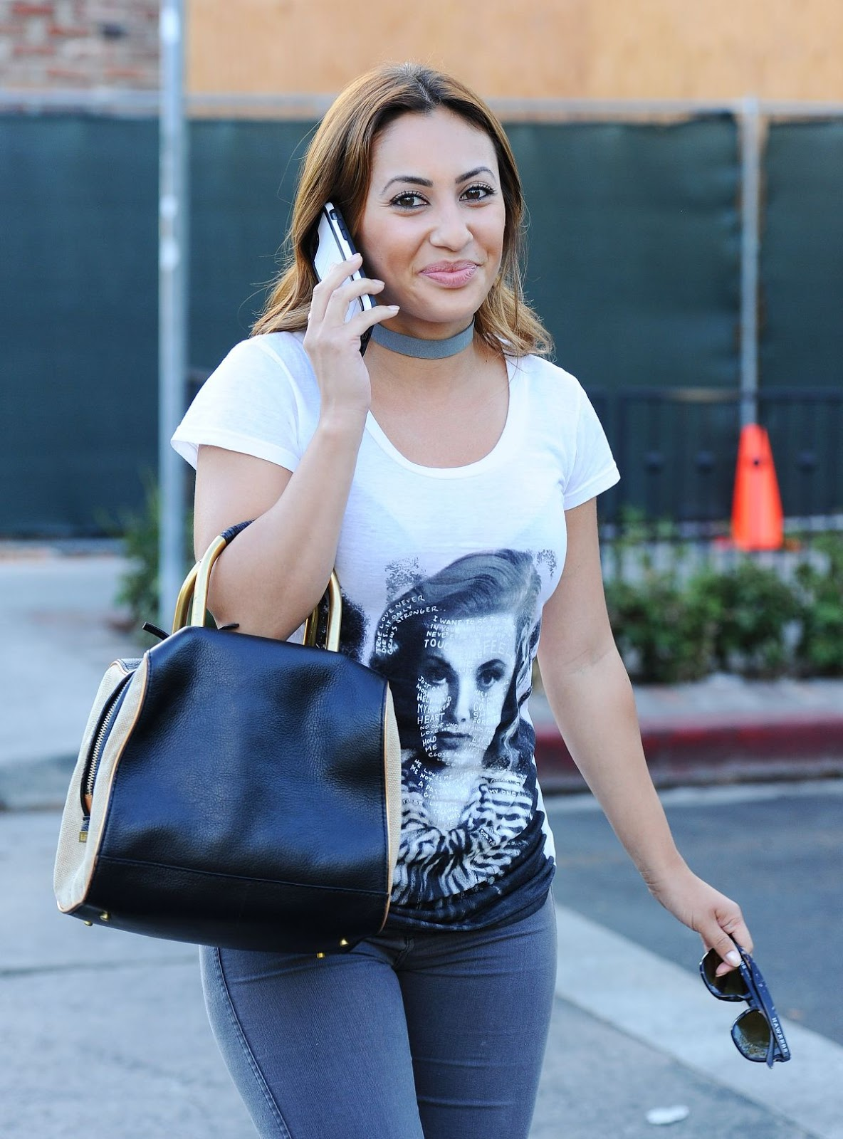 francia raisa booty in jeans out in beverly hills july 13
