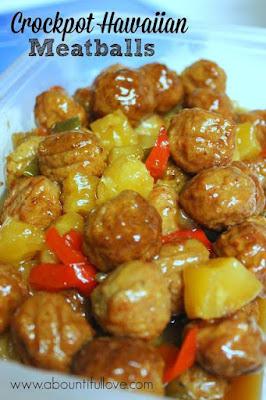 http://www.abountifullove.com/2014/07/crockpot-hawaiian-meatballs.html