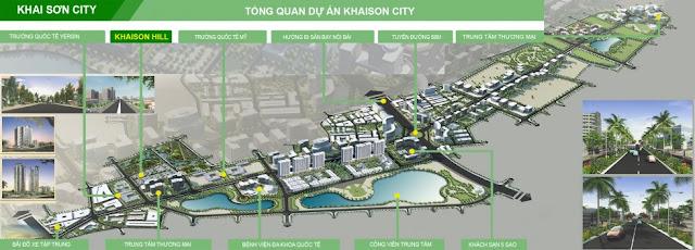 bản đồ tổng thể khu đô thị Khai Sơn City