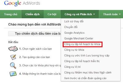 Những công cụ adwords phải biết ki chạy chiến dịch quảng cáo để có hiệu quả tối ưu