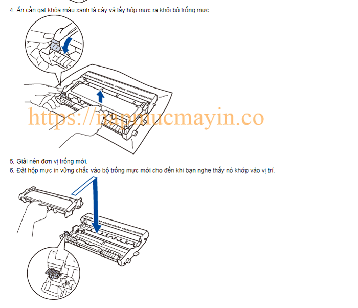 Sửa lỗi Replace Drum ở máy in Brother MFC L2701D
