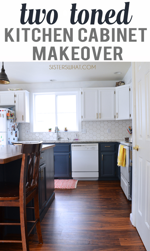 A beginners kitchen make over painting the cabinets with a paint sprayer and vinyl plank flooring!