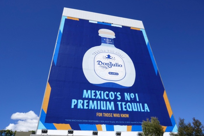Giant Don Julio Tequila billboard