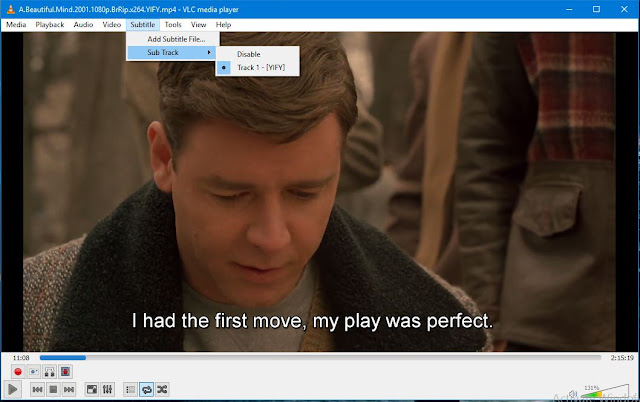 download subtitle using VLC Player
