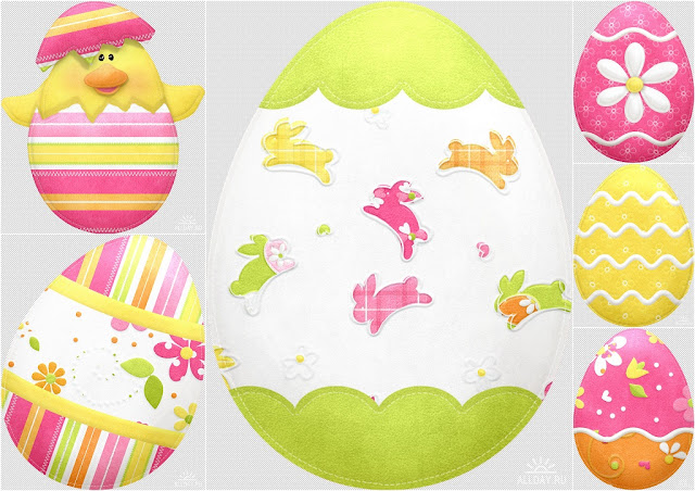 Nice Eggs of the Spring Easter Clip Art.