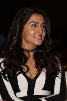 Ananya Soni in a Deep neck white blackl Dress at Shamanthakamani pre release function ~  Exclusive 087.JPG