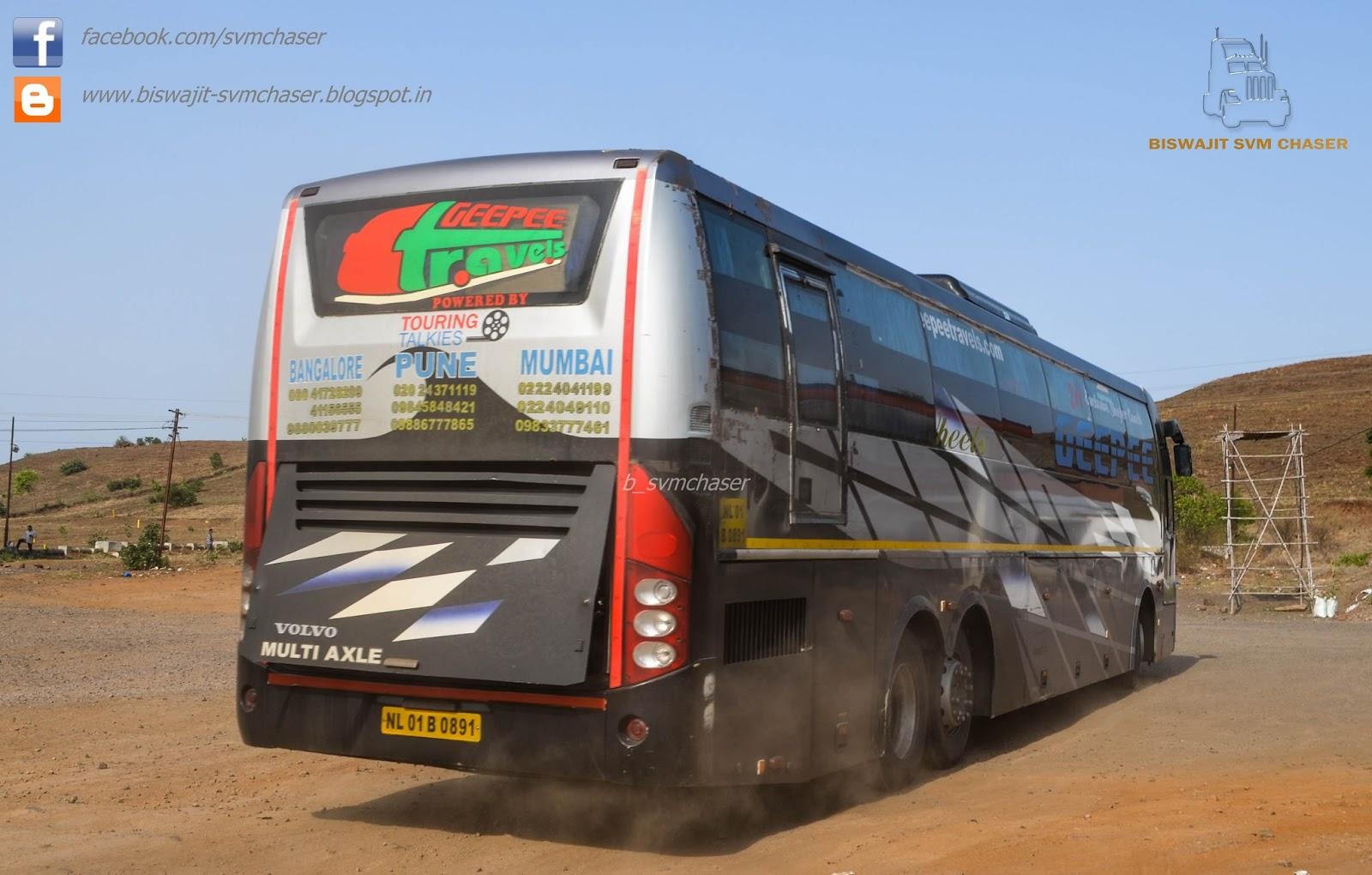 Gee Pee Volvo B9r Multiaxle Sleeper Nl01 B 0891 Biswajit