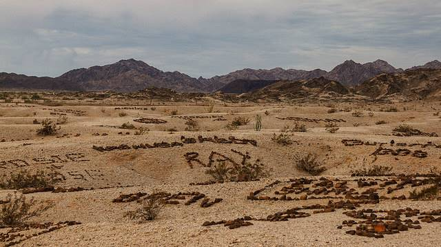 Lembah Nama atau Lembah Grafiti , Yuma, Amerika Serikat