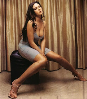 Monica Bellucci Sitting In Hot Style