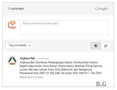 Cara Mengaktifkan Komentar Google Plus Blog