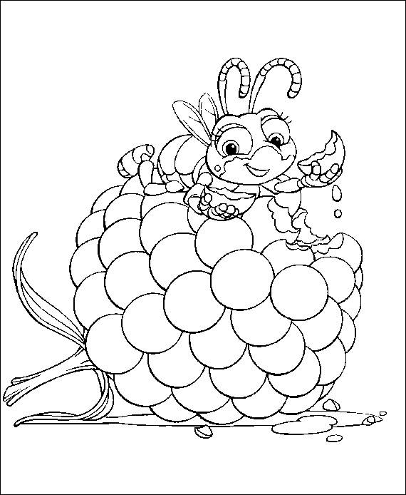 a bug life coloring pages - photo #47
