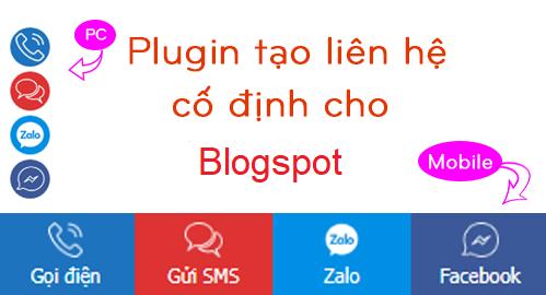 Tiện ích cố định liên hệ dưới chân trang cho blogspot