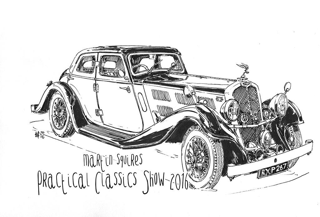 martin squires automotive illustration  practical classics