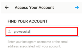 How to retrieve instagram password select the send an sms alternative ccuart Image collections