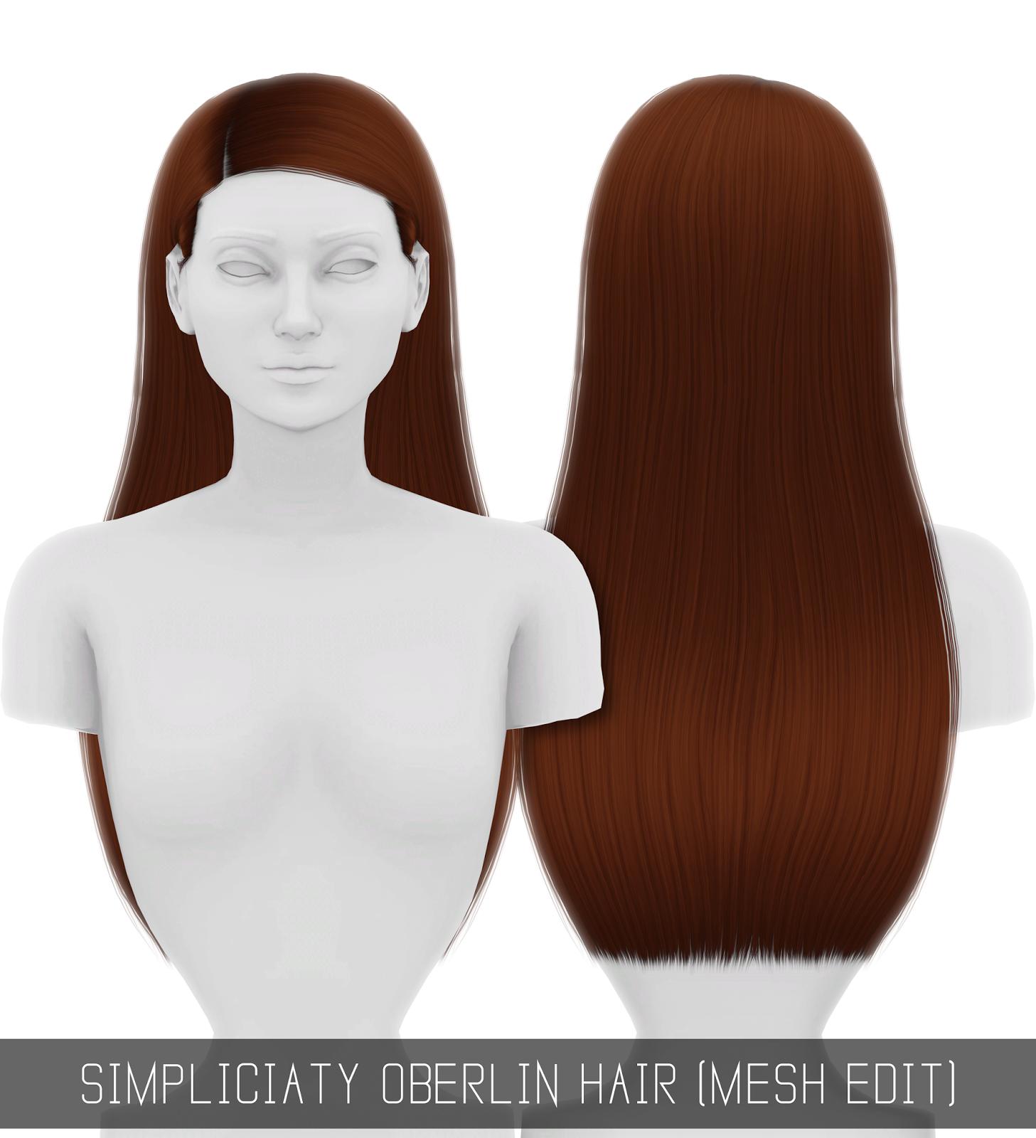 Oberlin Hair Mesh Edit Simpliciaty