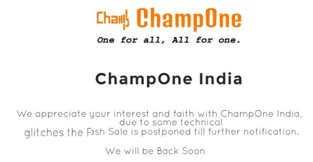 ChampOne C1 Flash Sale online