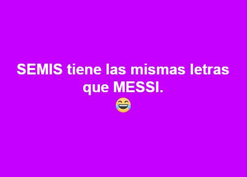 SEMIS tiene las mismas letras que MESSI - Y yo estaba viendo al Liverpool eliminando al City de Guardiola - el troblogdita