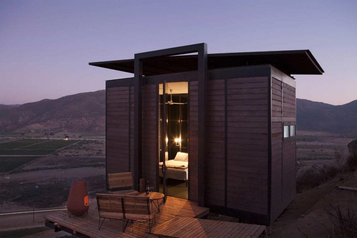 13-Night-Time-Refuge-Gracia-Studio-Cabin-Architecture-set-on-a-Hill-www-designstack-co