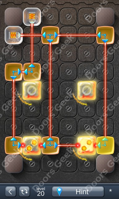 Solution for Laser Box - Puzzle (Basic) Level 20