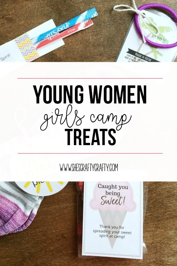 Young Women treats, Girls Camp handouts, pillow treats, tuck in treats