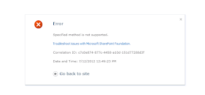 SharePoint Tips and Tricks: Specified method is not