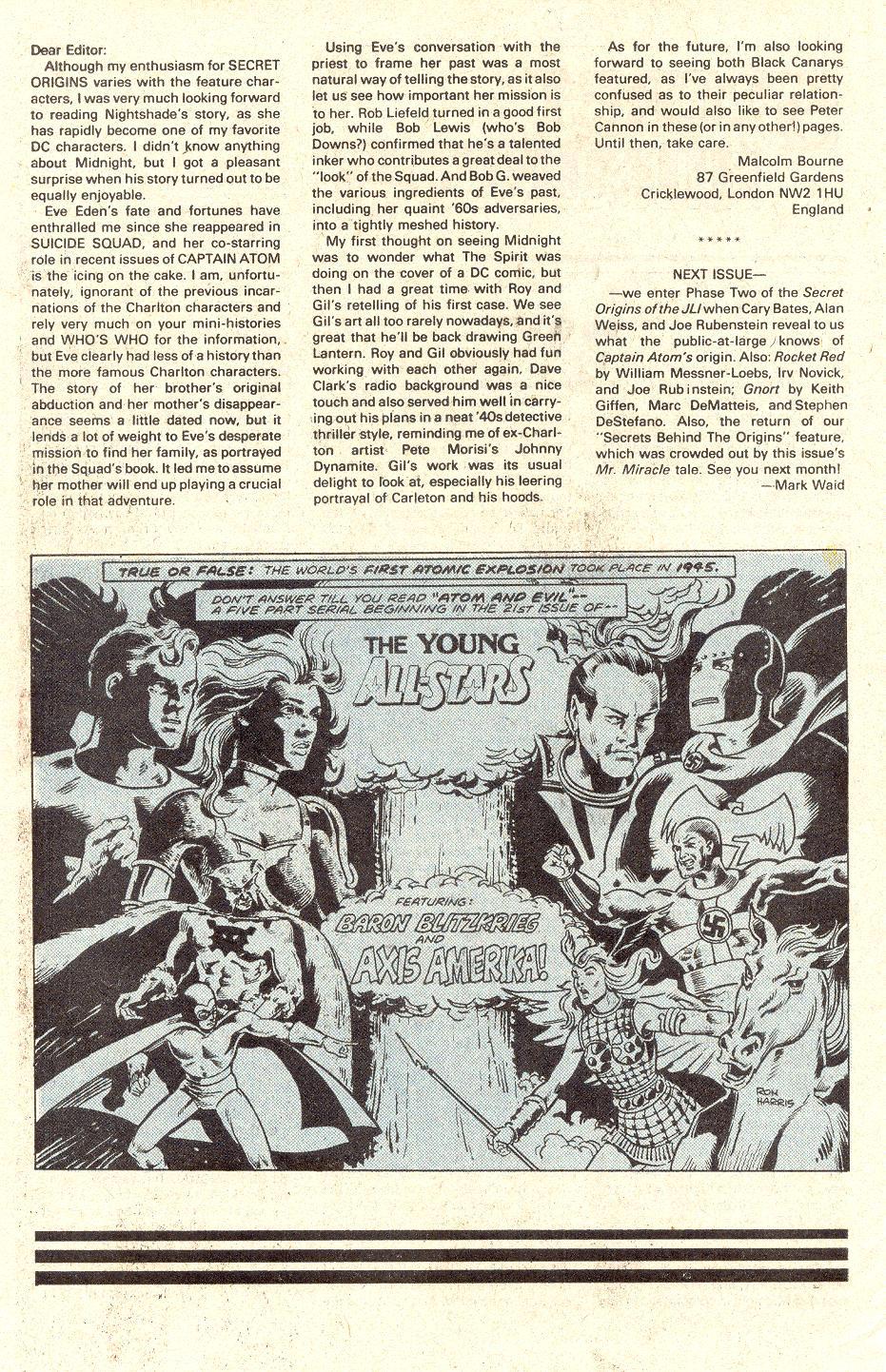 Read online Secret Origins (1986) comic -  Issue #33 - 45