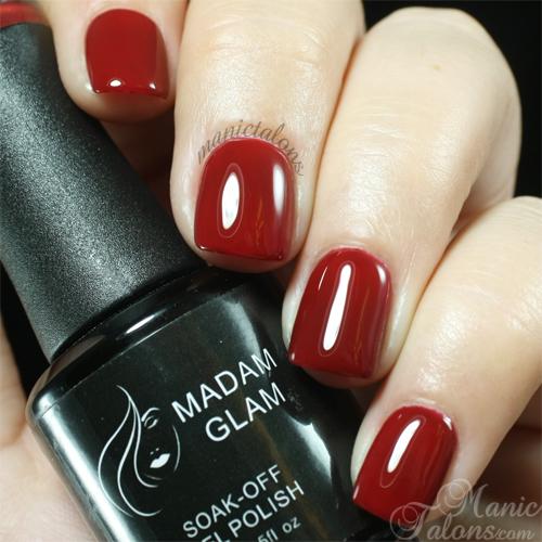 Madam Glam Gel Polish 227 Deep Burgundy Swatch