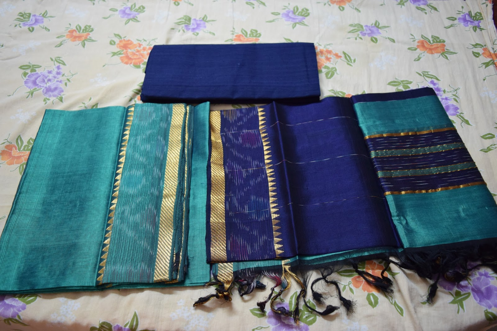 Indian Traditional Handloom Sarees Mangalagiri Semi Pattu