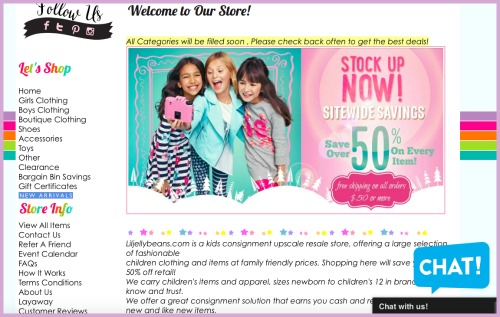 Liljellybeans consignment for kids' clothes online