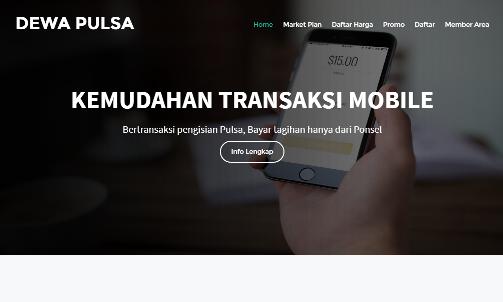 Jasa Website Pulsa