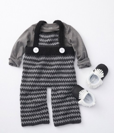 Dungarees Free Intermediate Baby Crochet Pattern Baby ...