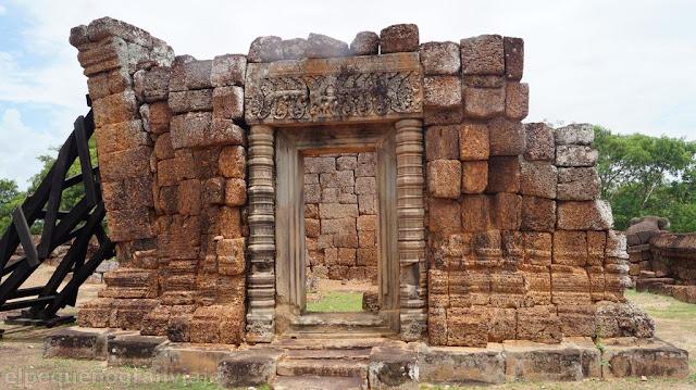 estructura, ruinas,  Imperio jemer