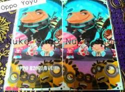 garskin, skin, skotlet, stiker, gambar tempel, handphone Oppo Yoyo kartun atau cartoon
