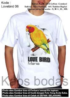 Kaos gambar Lovebird 06