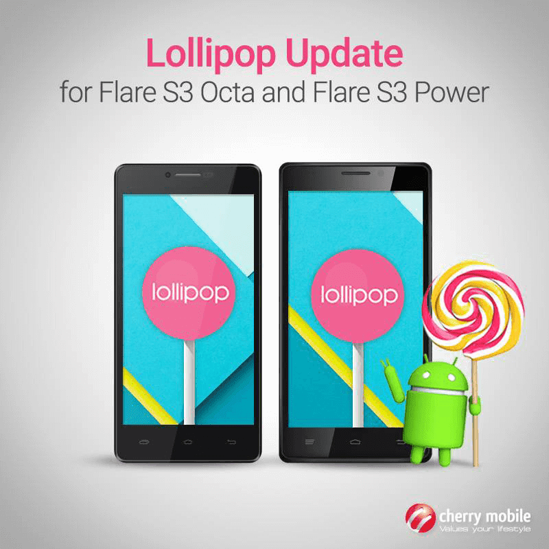 Lollipop Update for Flare S3 Octa and Flare S3 Power!
