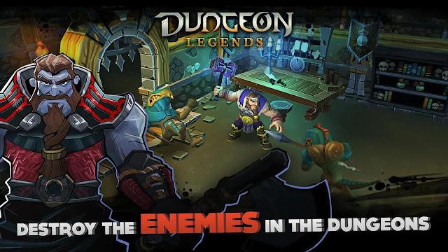dungeon legends hile apk indir
