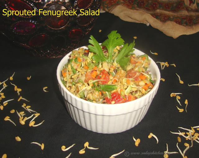 images of Sprouted Methi Salad / Sprouted Fenugreek Salad / A Healthy Sprout Salad