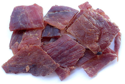 grilled barbeque pork jerky