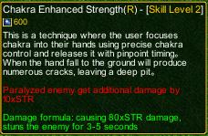naruto castle defense 6.4 Stunade Chakra Enhanced Strength detail