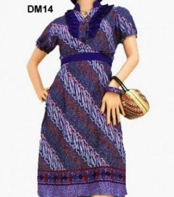 model dress batik kerja