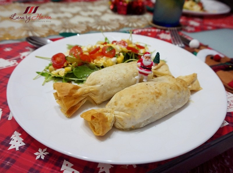 christmas recipes whole wheat filo seafood rolls