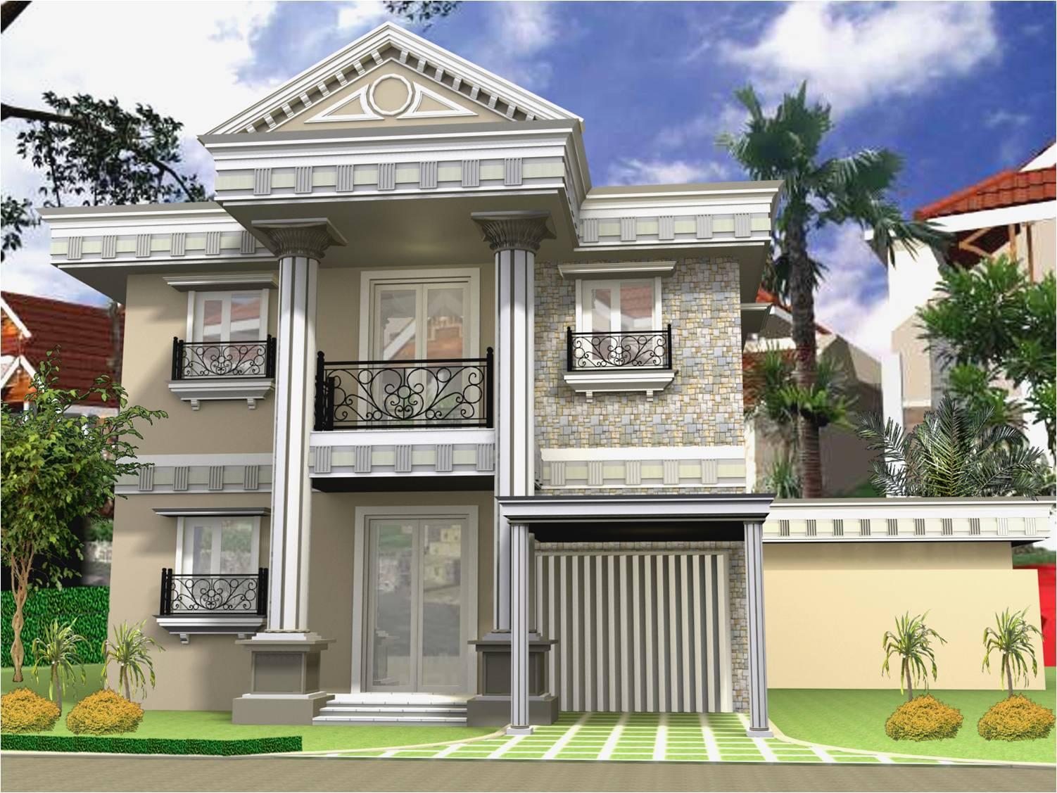 Rumah Minimalis Modern Klasik, Hunian Damai dan Tenang 2017 - Cafe Elwazeen