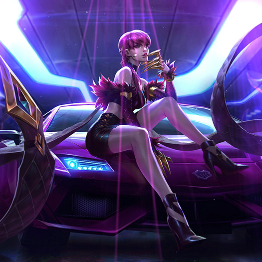 4K KDA Evelynn Wallpaper Engine