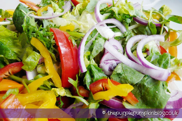 Rainbow Salad with Zesty Dressing at The Purple Pumpkin Blog