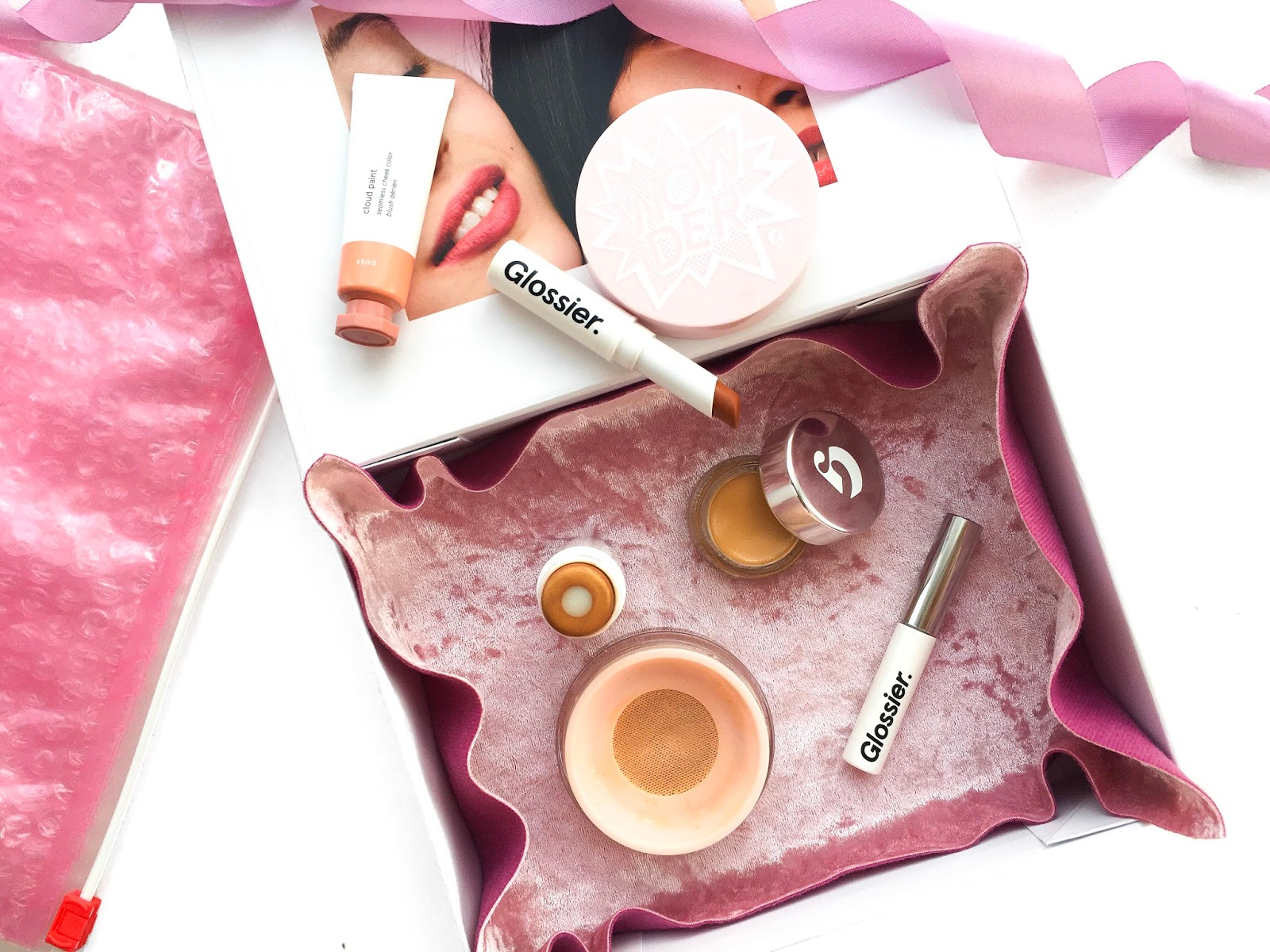 glossier makeup review, glossier phase 2 set review, glossier cloud paint dusk review