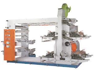 4 Colors Flexographic Printing Machine With Stack Type