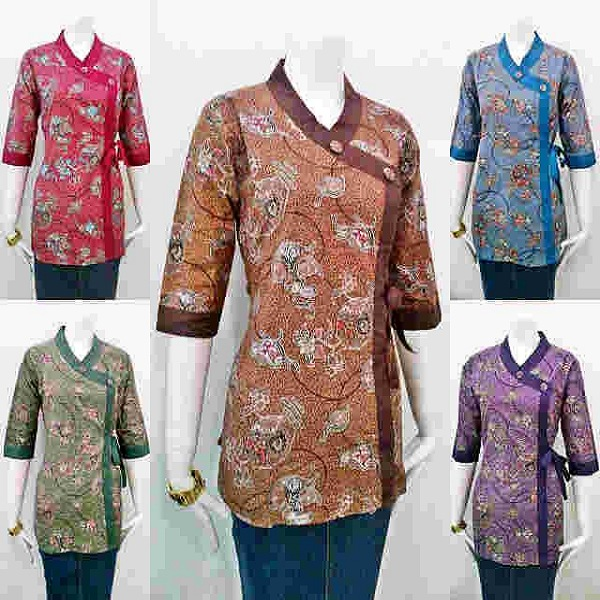 Model Baju Batik Wanita 2015: Model Baju Batik Terbaru Muslim Pria Wanita Atasan Untuk