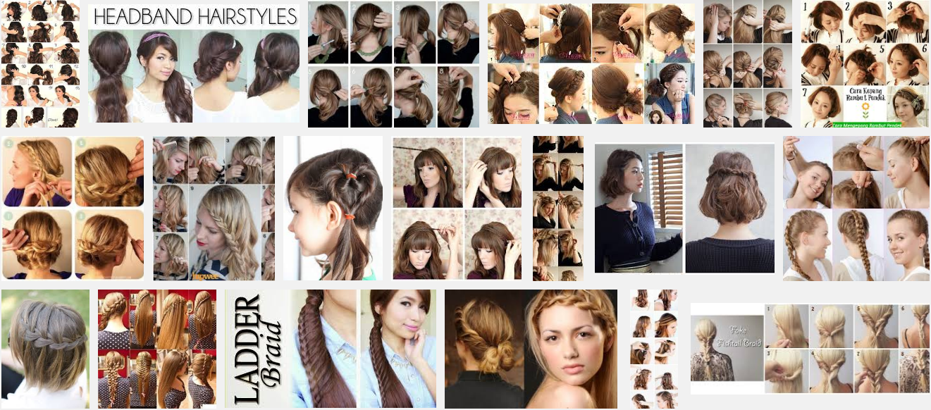 Model Kepang Rambut Pendek dan Panjang